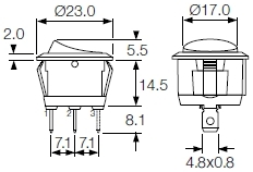 R13 Body 112 round rocker switches r13 series and r92 series indicator bulgin r13 112 switch wiring diagram at highcare.asia